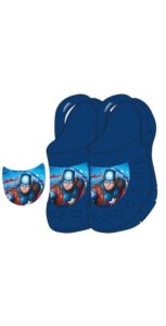 avengers boys garden slippers dark blue
