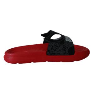 pantofles spiderman black red
